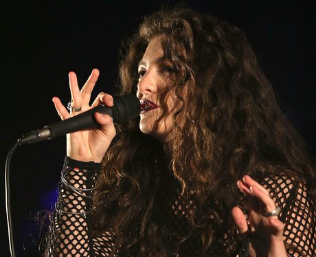 Lorde on stage in New Zealand