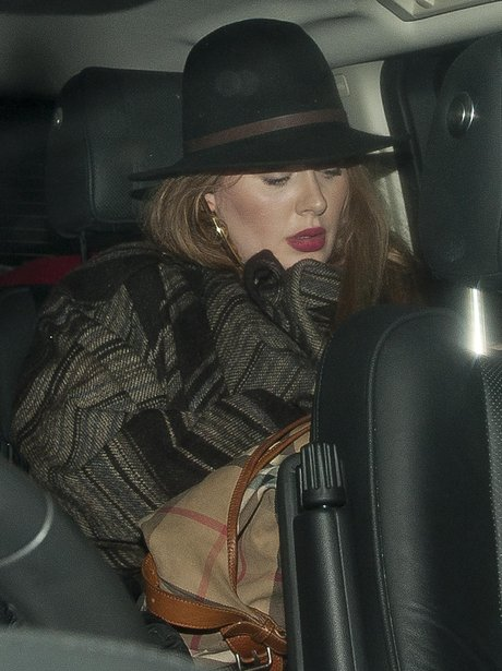 Adele leaving the Prince concert in a car
