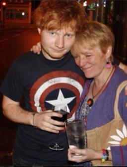 Ed Sheeran and Mum