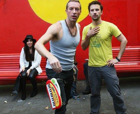 Coldplay shooting a filmclip
