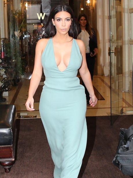 Kim Kardashian seen in out Paris
