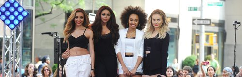 Little Mix perform in USA wearing monochrome
