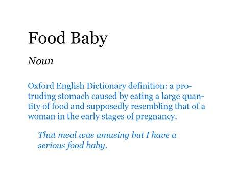 Pop Dictionary: Food Baby
