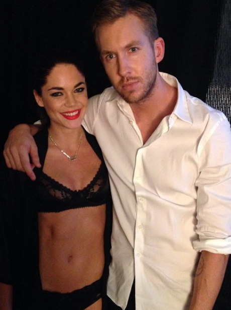 Calvin Harris and Underwear Model