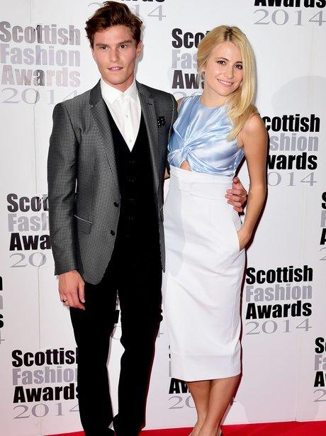Pixie Lott and Oliver Cheshire Scotish Fashion