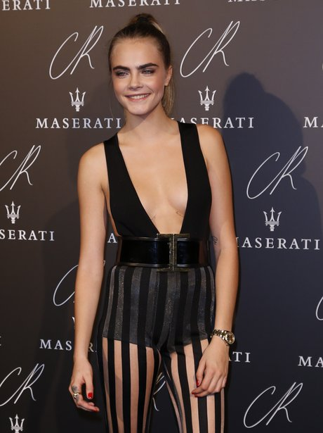 Cara Delevingne Channels Beetlejuice In These Trousers At The Cr Fashion Book Party Capital