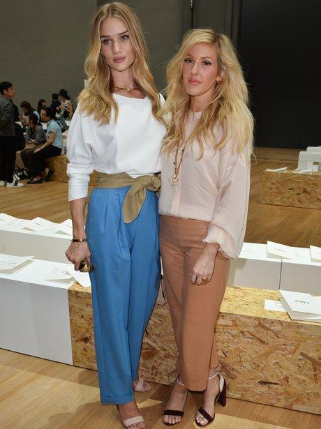 Ellie Goulding and Rosie Huntington-Whiteley