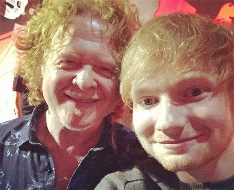 Ed Sheeran and Mick Hucknall