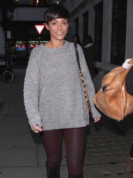 Frankie Sandford dressed down
