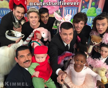 One Direction and Jimmy Kimmel