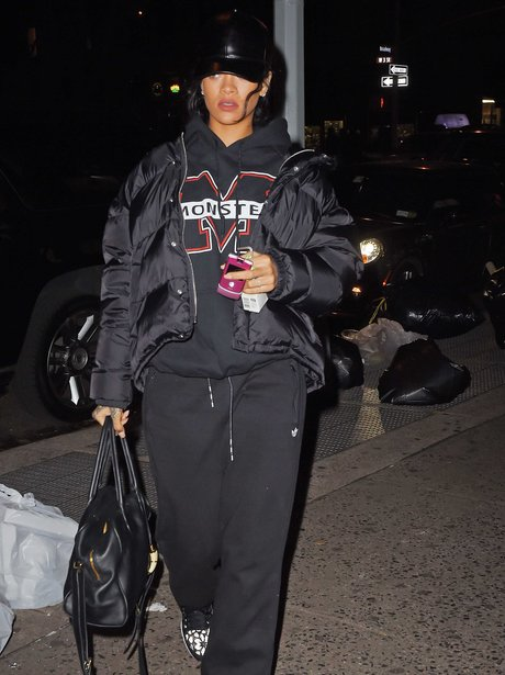 Rohanna wearing a tracksuit in New York