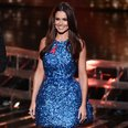 Cheryl Sparkly Blue Dress X Factor 2014