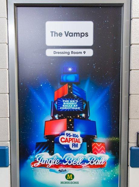 The Vamps Backstage Jingle Bell Ball 2014