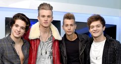 The Vamps backstage Jingle Bell Ball 2014