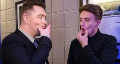 Sam Smith Backstage Jingle Bell Ball 2014