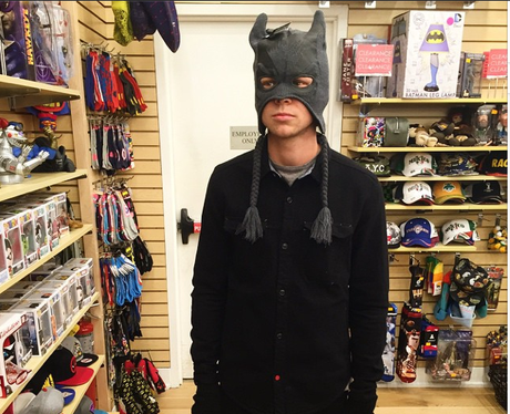 Ashton Irwin Batman Mask Instagram