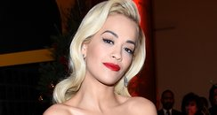 Rita Ora Black Dress Christmas Ball