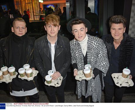 Rixton holding lots of coffee