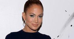 Jennifer Lopez in big green skirt
