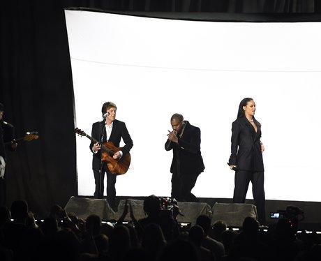 Sir Paul McCartney, Kanye West and Rihanna