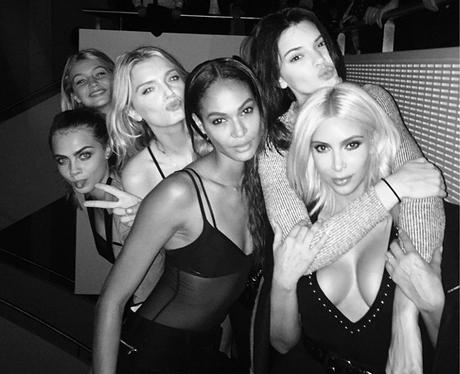 Kim Kardashian, Kendall Jenner and Cara Delevingne