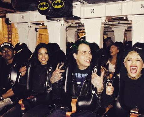 Rita Ora on a rollercoaster