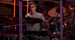 Justin Bieber Drumming Late Late Show