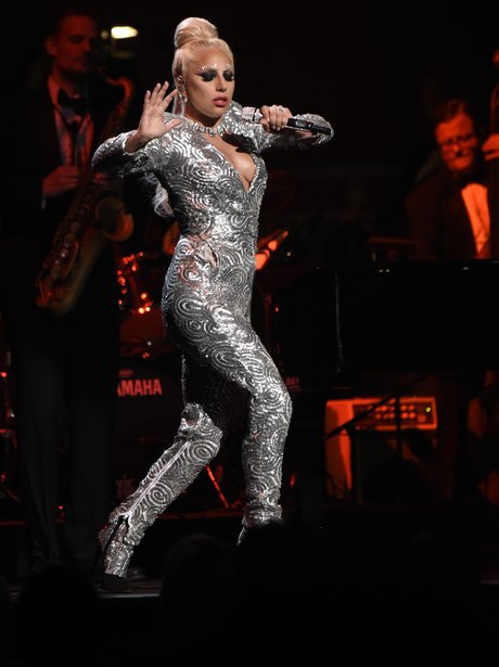 Tbh We Re All About This Silver Catsuit Lady Gaga Was