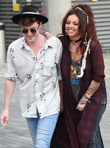 Jake Roche and Jesy Nelson in Manchester