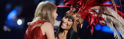 Taylor Swift & Nicki Minaj live on stage at the MT