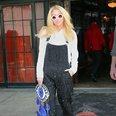 Kesha wearing dungarees