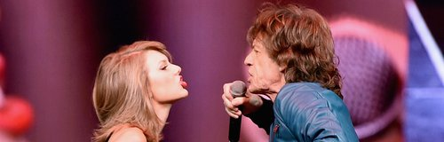 Taylor Swift and Mick Jagger 1989 Tour