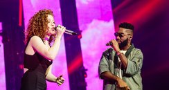 Tinie Tempah and Jess Glynne at the Jingle Bell Ba
