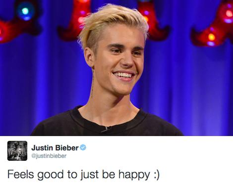 We're glad that happy Justin's back. - 12 Tweets That Got ...