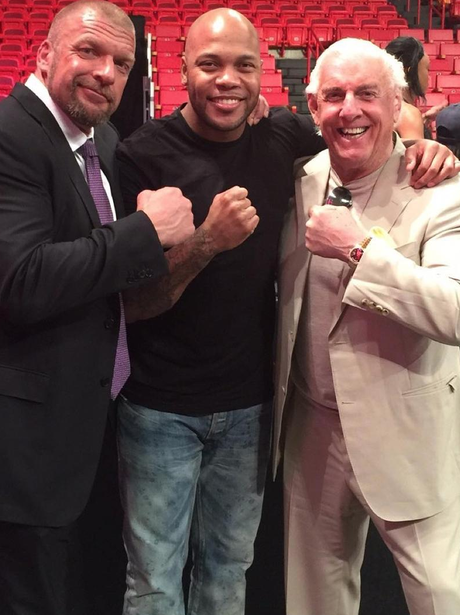 Flo Rida With Triple H & Ric Flair Instagram