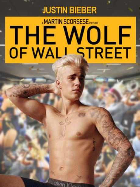 Justin Bieber In The Wolf Of Wall Street