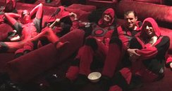 5SOS Watching Deadpool Dressed As Deadpool