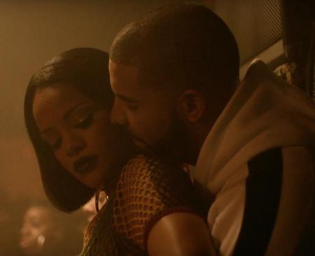 Drake Rihanna hugging