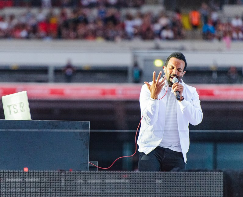Craig David at the Summertime Ball 2016