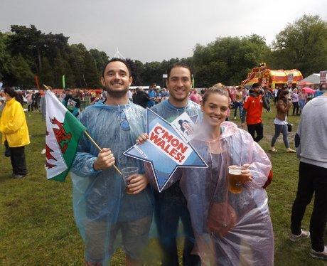 Cardiff Fanzone: Wales v England