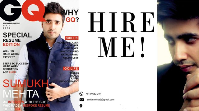 THIS Is How You Apply For A Job - Meet The Guy Who Turned His CV Into A Copy Of GQ
