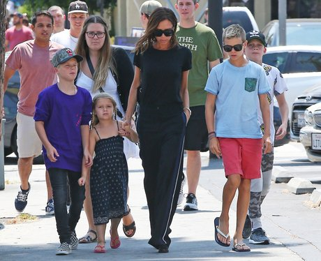 The Beckhams head out for lunch