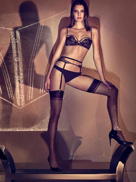 Kendall Jenner poses in La Perla underwear
