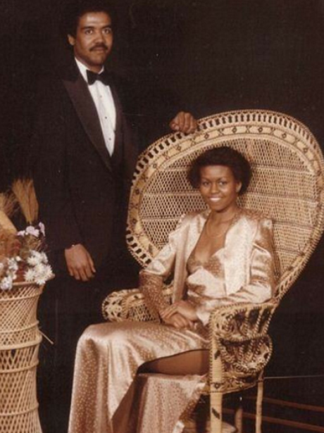 Prom Throwback Photos Michelle Obama