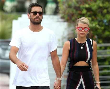 Scott Disick and Sofia Richie holding hands